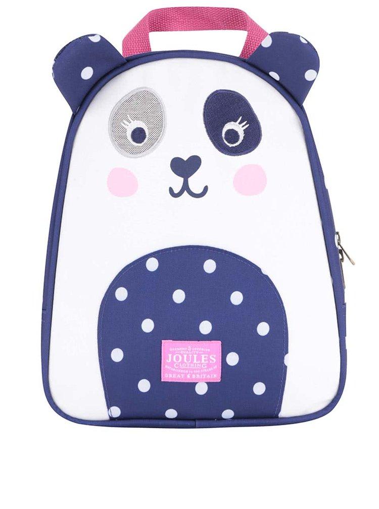 Modrý holčičí batoh ve tvaru pandy Tom Joule