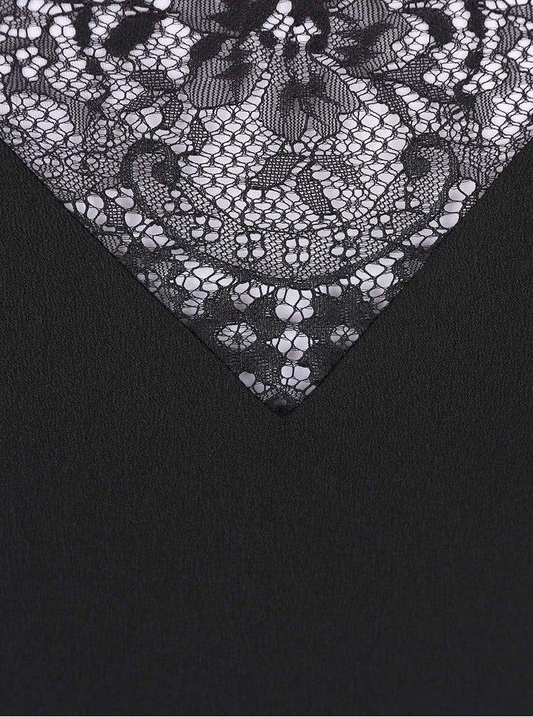 Čierne dlhšie šaty na ramienka Miss Selfridge