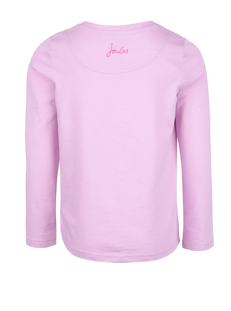 Bluză roz din bumbac Tom Joule pentru fete