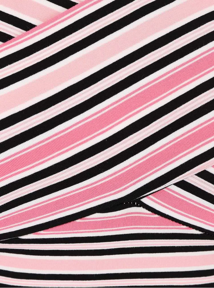 Crop top în dungi colorate Miss Selfridge
