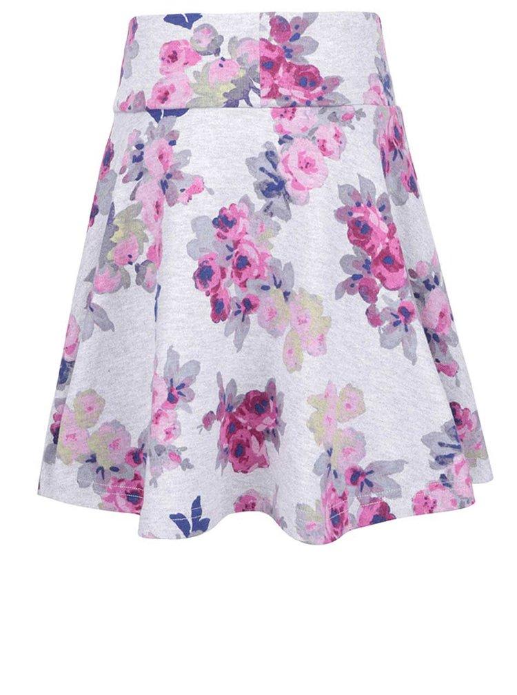 Sivá dievčenská kvetovaná sukňa Tom Joule Jen
