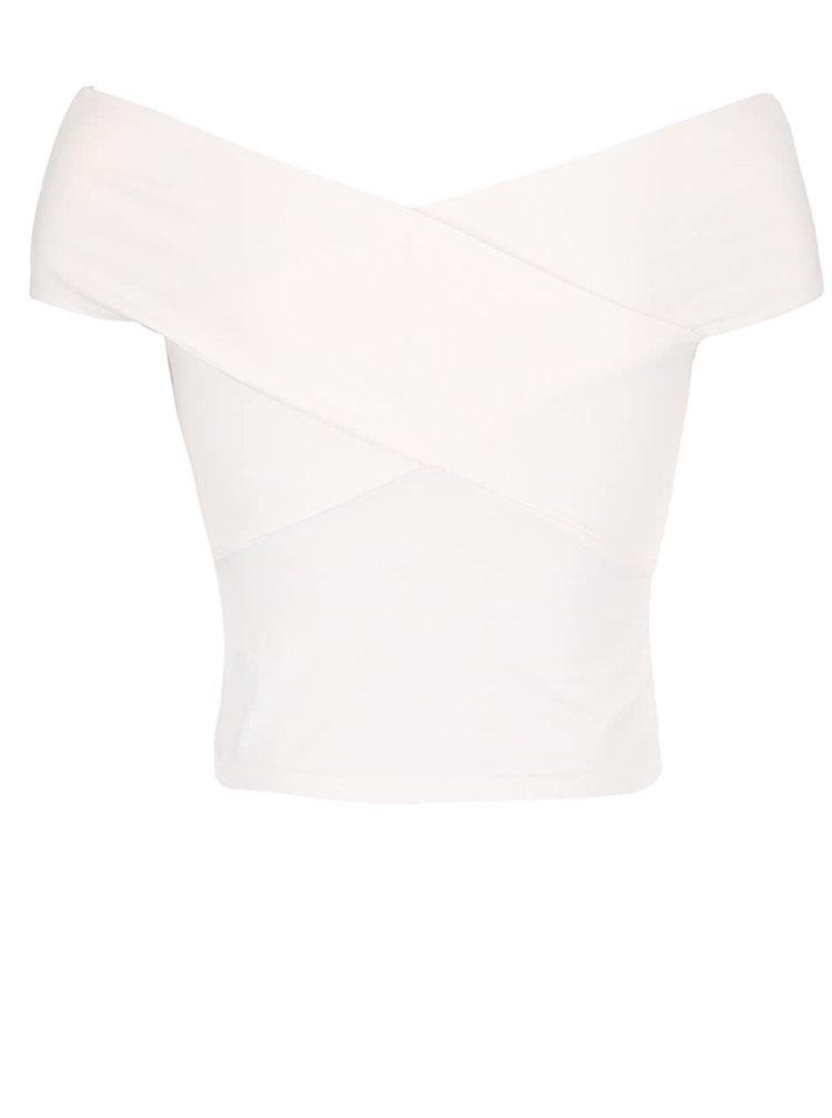 Krémový top s odhalenými rameny Miss Selfridge