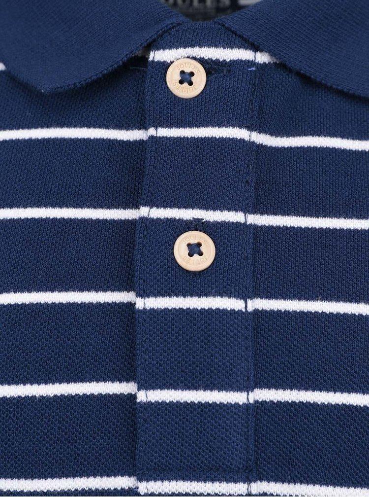 Modrá pruhovaná chlapčenská polokošeľa Tom Joule Harry