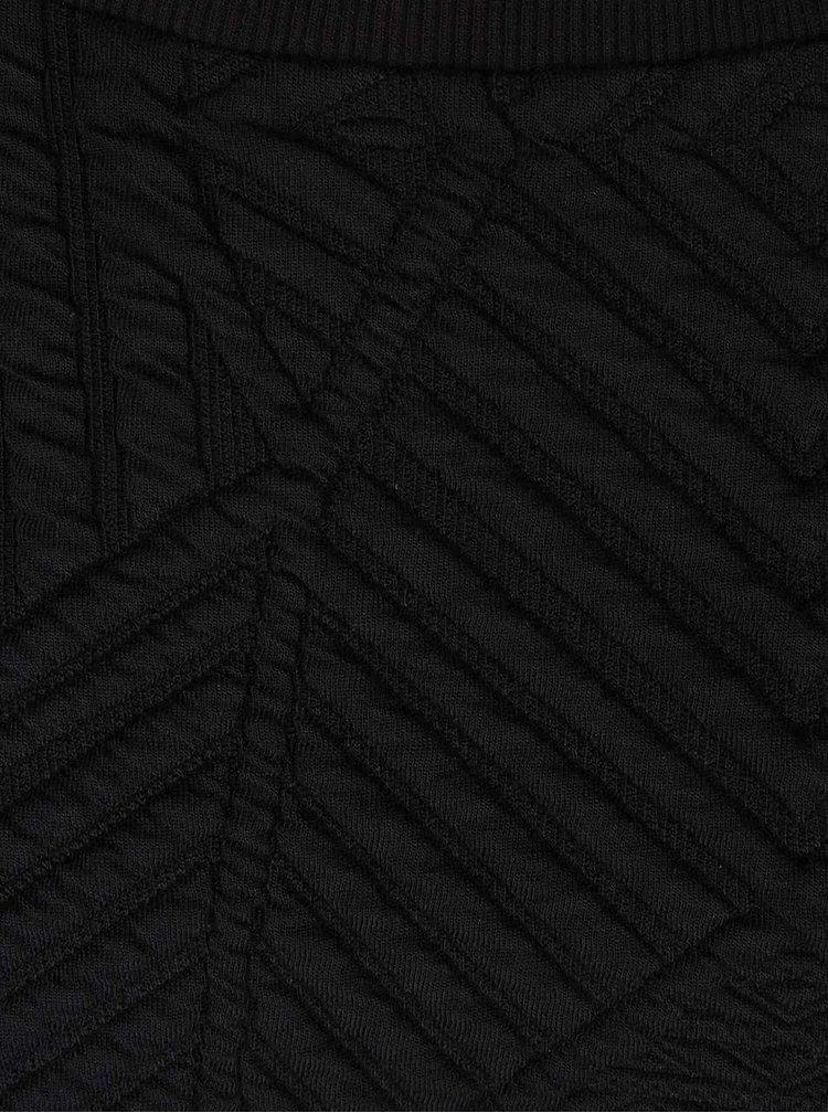 Čierna mikina s textúrou Miss Selfridge