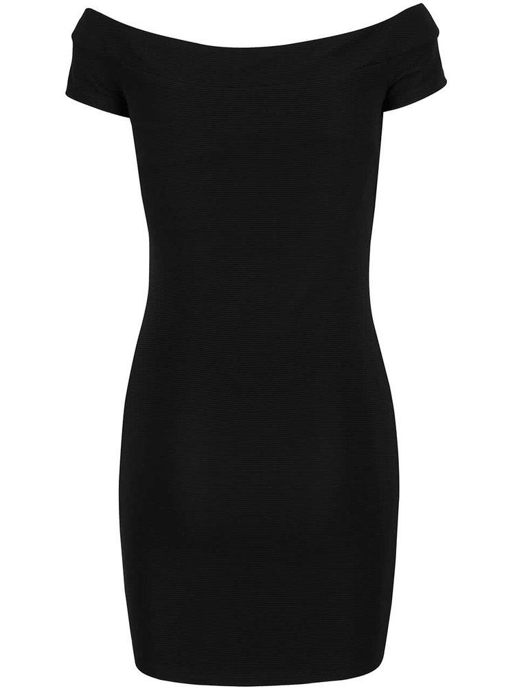 Černé šaty s lodičkovým výstřihem Miss Selfridge