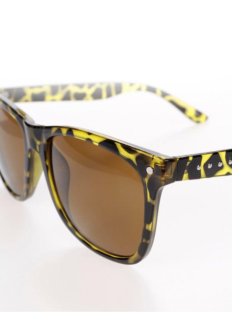 Čierno-zelené slnečné okuliare Jack & Jones Jack