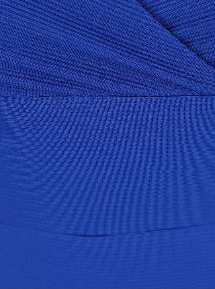 Rochie bodycon albastra Miss Selfridge cu decolteu in V