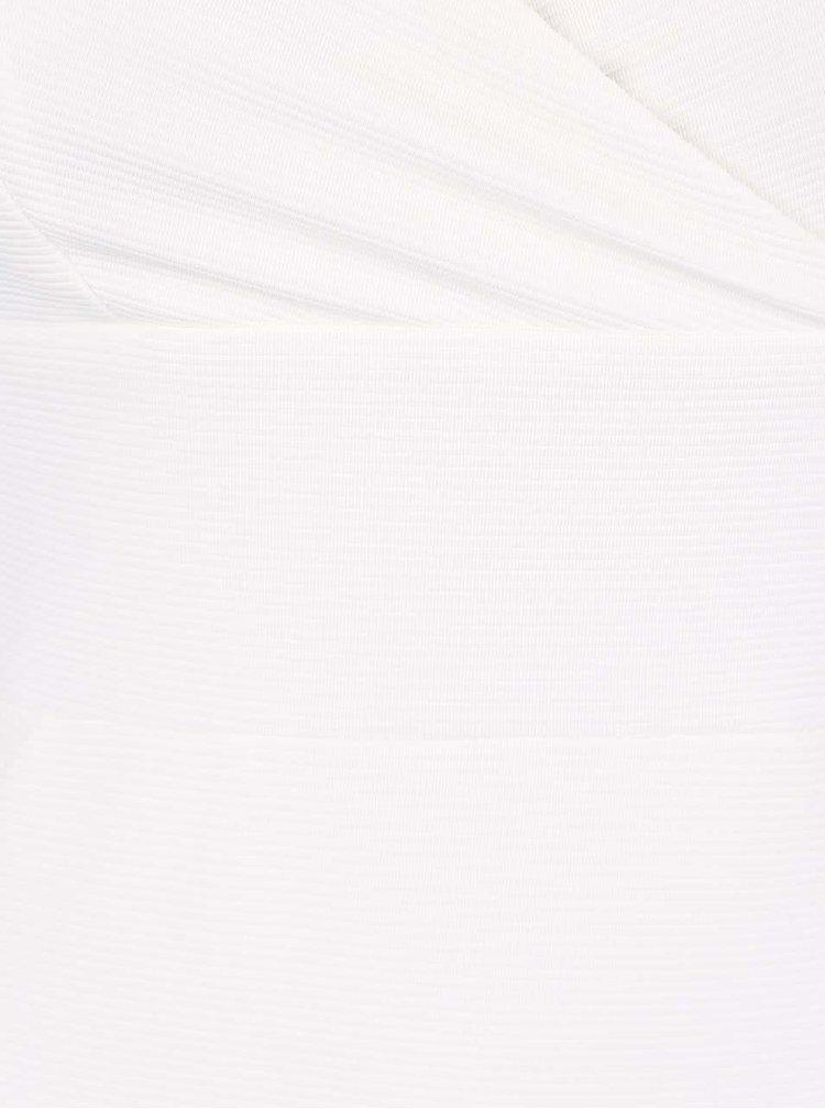 Krémové strečové šaty s prekladaným výstrihom Miss Selfridge