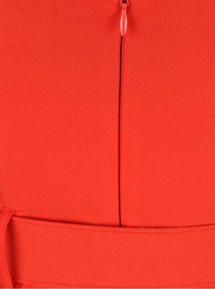 Červený overal s opaskom Miss Selfridge