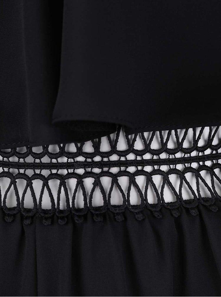 Salopetă neagră Miss Selfridge cu bretele subțiri