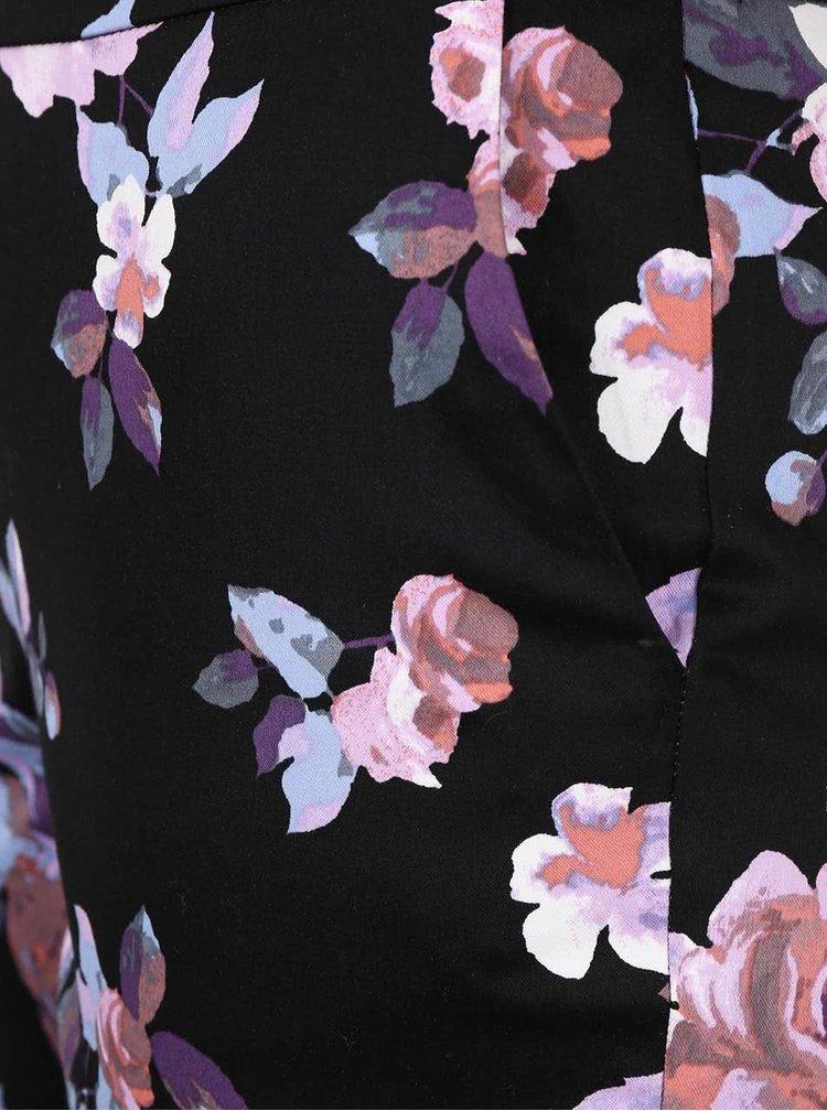 Černé květované kalhoty Miss Selfridge