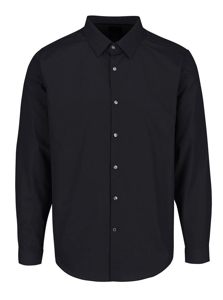 Černá formální slim fit košile Burton Menswear London