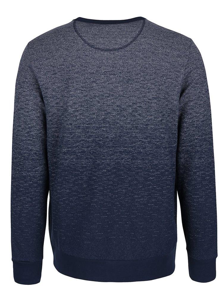 Modrá mikina s ombré efektom Burton Menswear London