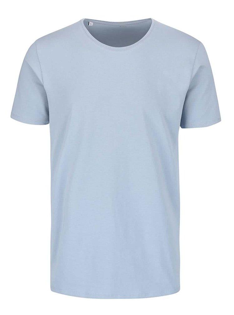 Světle modré triko s kulatým výstřihem Selected Homme Pima