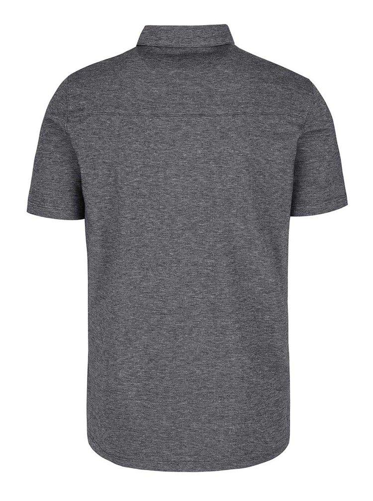 Šedá žíhaná košile Burton Menswear London