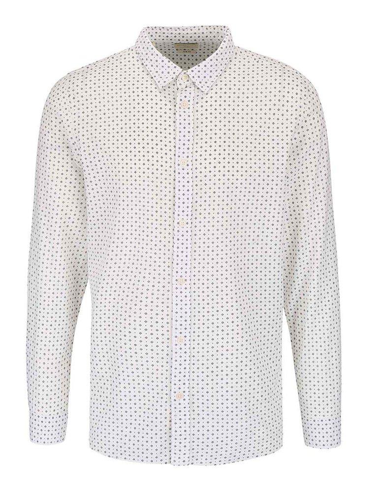 Krémová vzorovaná košile Selected Homme Honechuckle