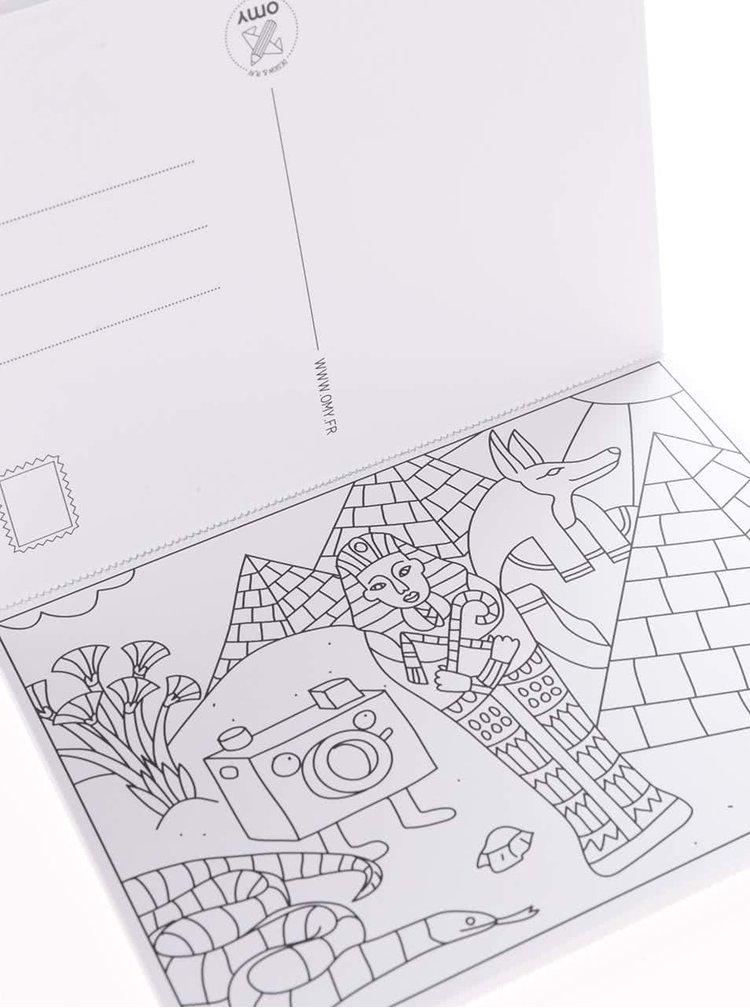Set 16 cărți poștale de colorat Atlas OMY