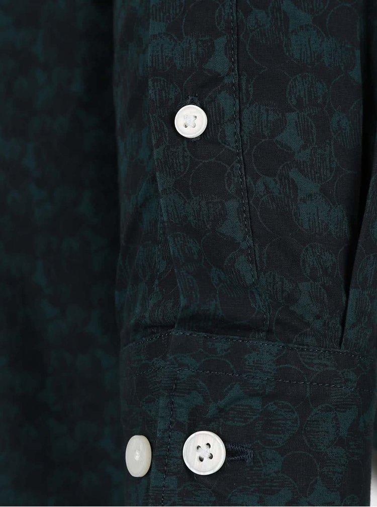 Černo-zelená vzorovaná košile Selected Homme One Bob