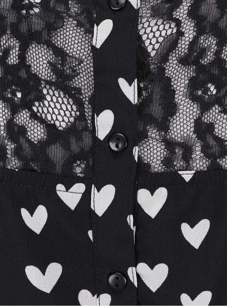 Rochie neagră ONLY Spring cu dantelă