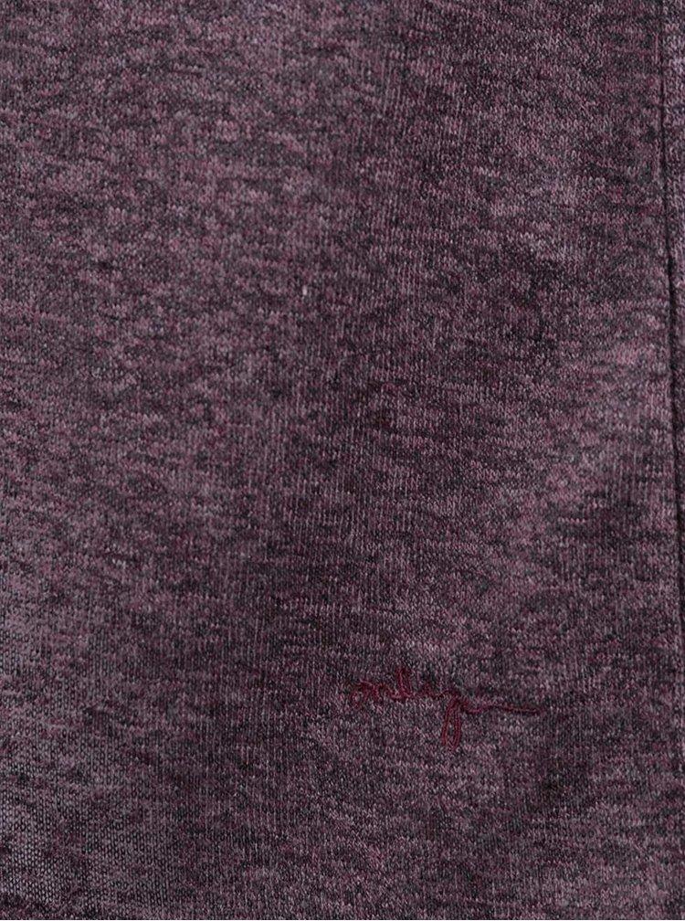 Vínové asymetrické tričko s dlhým rukávom ONLY Hanna