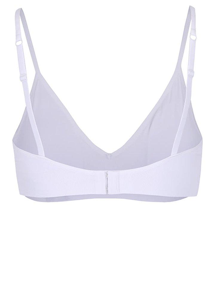 Biela športová podprsenka s tenkými ramienkami DKNY