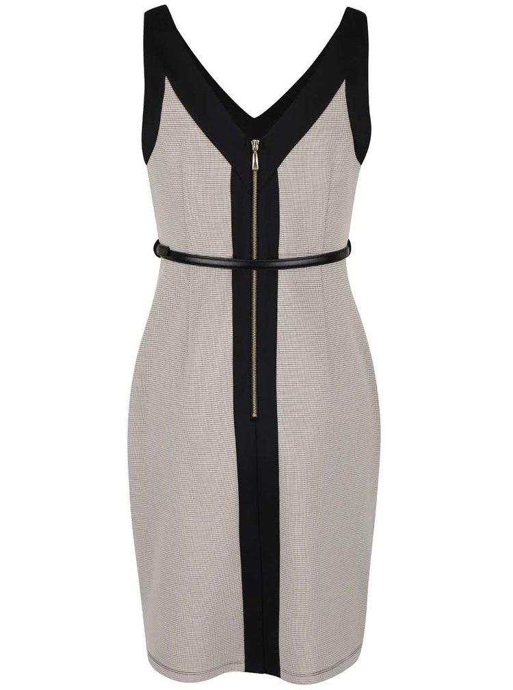Čierno-béžové šaty Dorothy Perkins