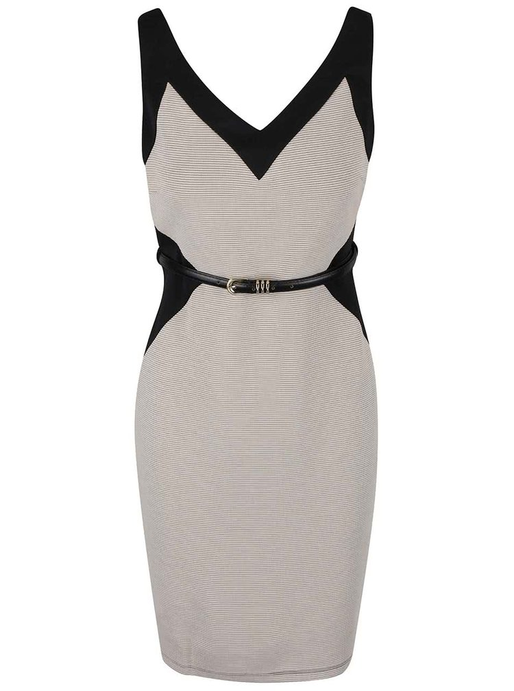 Černo-béžové šaty Dorothy Perkins