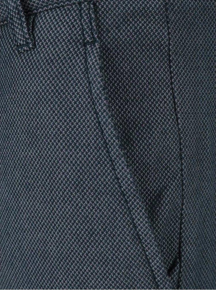 Pantaloni albastru închis Selected Homme Phil cu model pepit