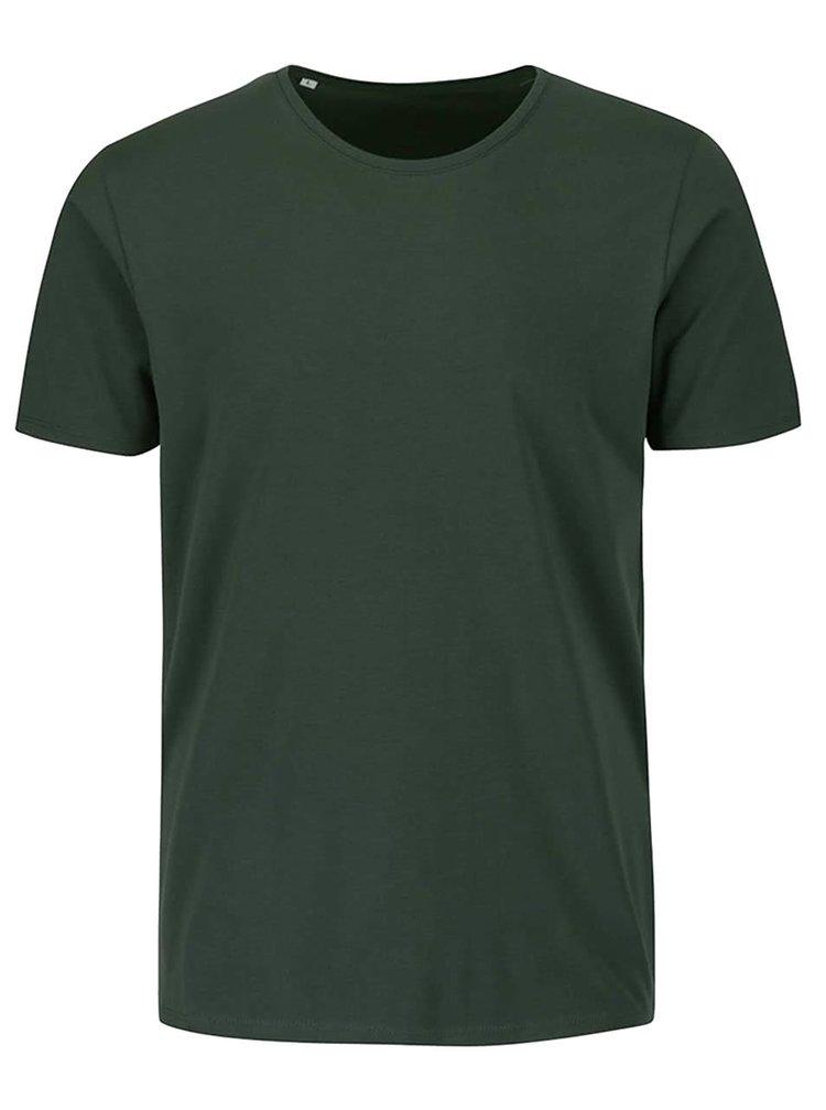 Tricou verde închis Selected Homme Pima