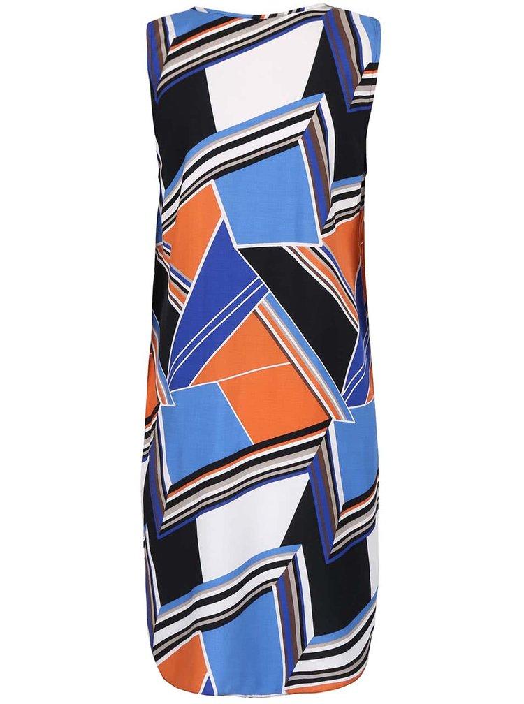 Modro-oranžové šaty s geometrickým vzorom Dorothy Perkins