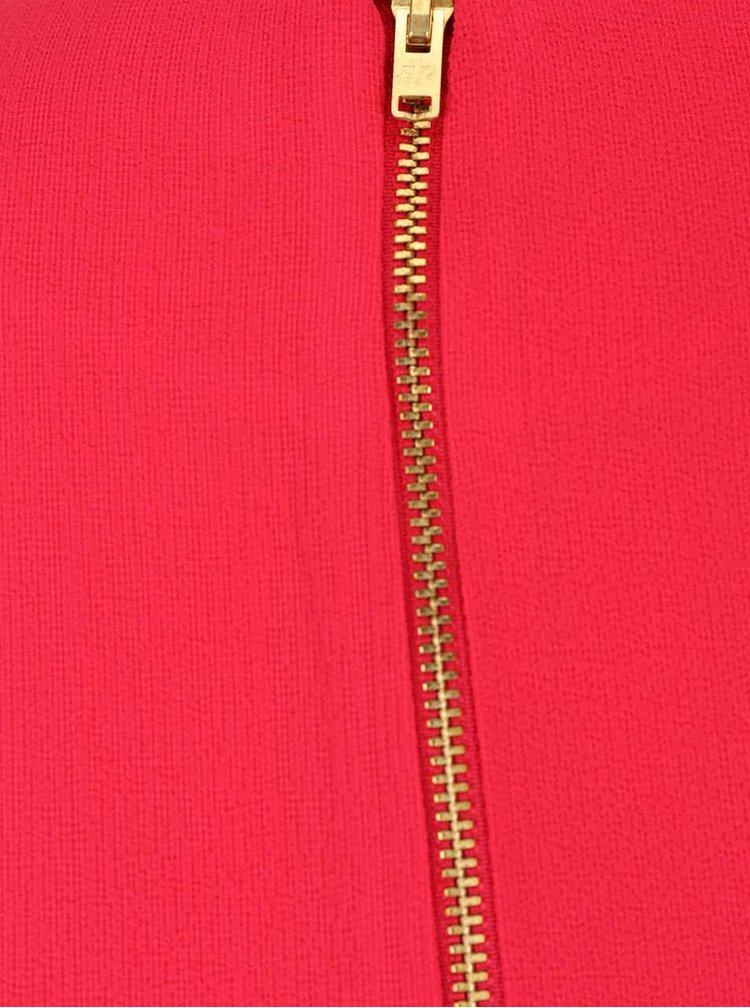 Růžové volnější šaty s odepínatelným náhrdelníkem Dorothy Perkins