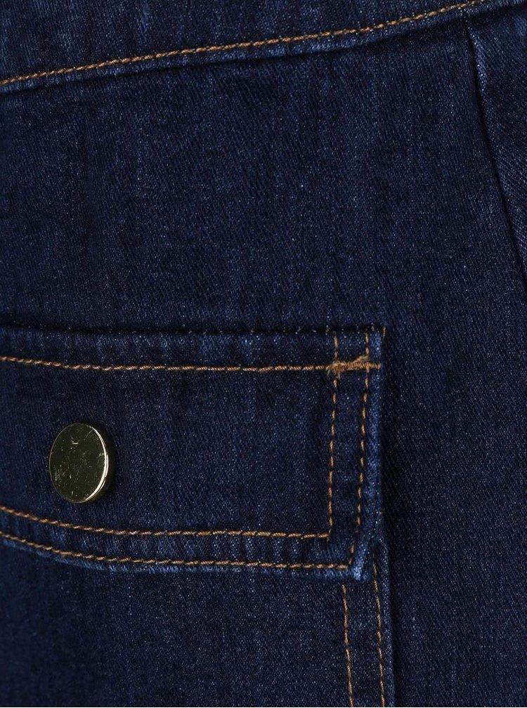 Tmavě modrá džínová sukně s kapsami Dorothy Perkins