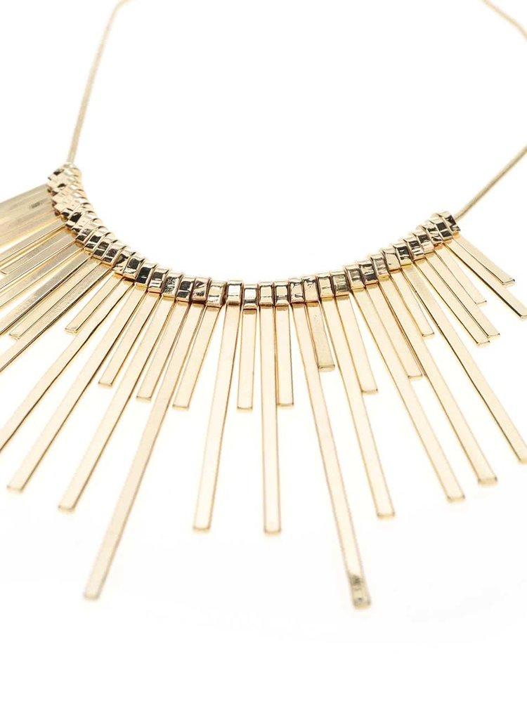 Colier auriu Pieces Palea cu pandantive de dimensiuni diferite