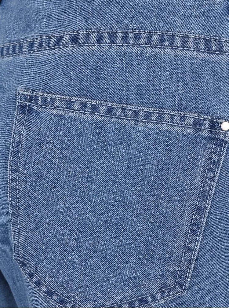 Modré džínové šortky s krajkovým lemem Dorothy Perkins