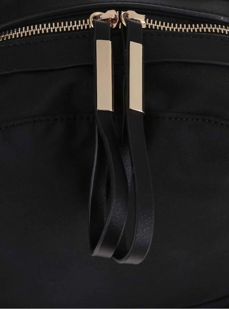 Rucsac negru Pieces Dalli cu buzunar exterior