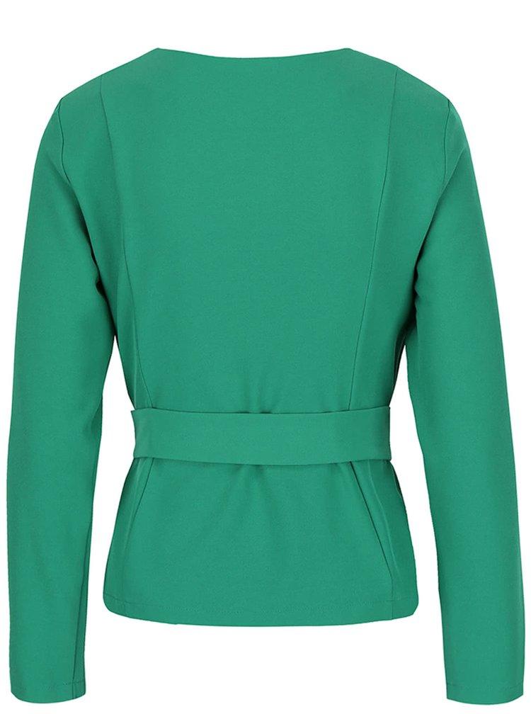 Jacheta subtire verde Dorothy Perkins cu cordon