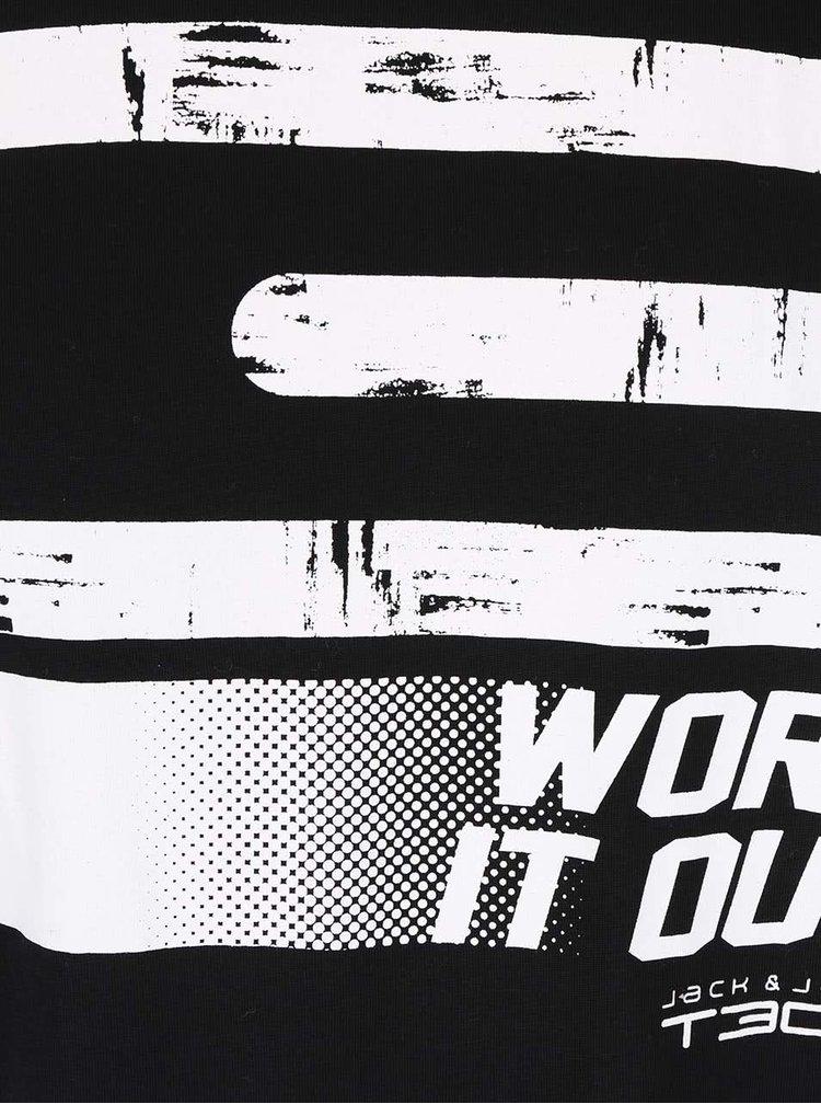 Černé triko s potiskem Jack & Jones Field