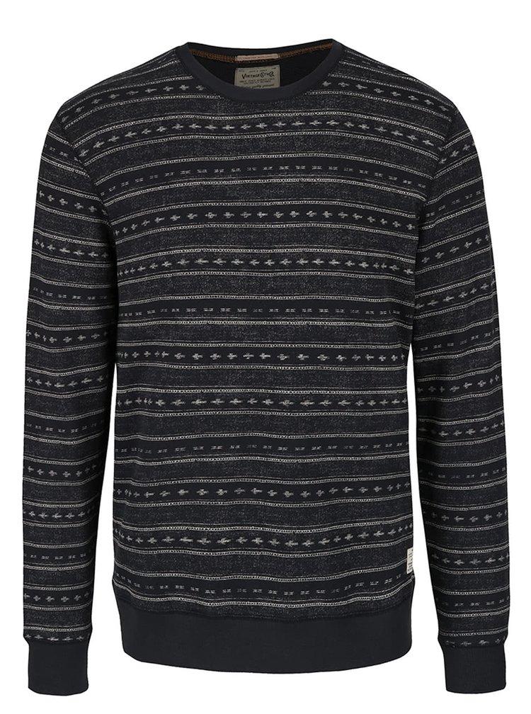 Bluză neagră cu model Jack & Jones Austin