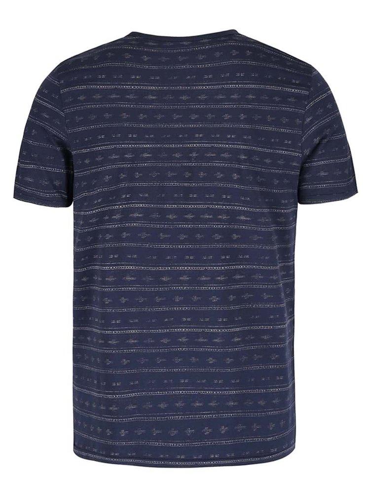 Tricou bleumarin din bumbac Jack & Jones Steve cu model