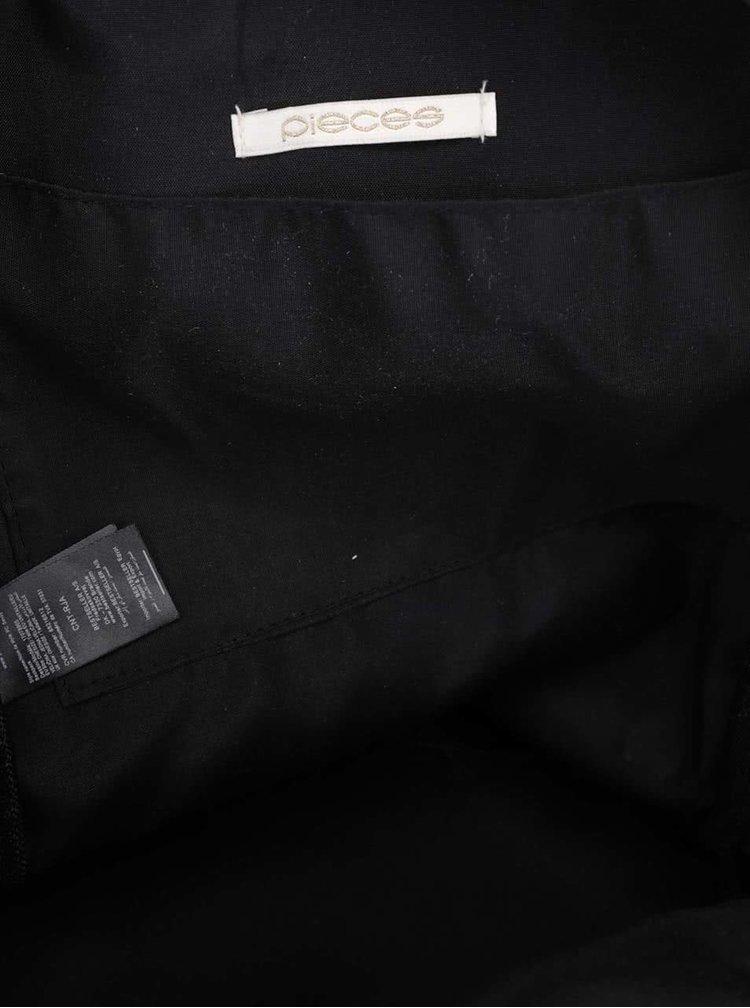 Rucsac negru Pieces Savoy cu buzunar exterior