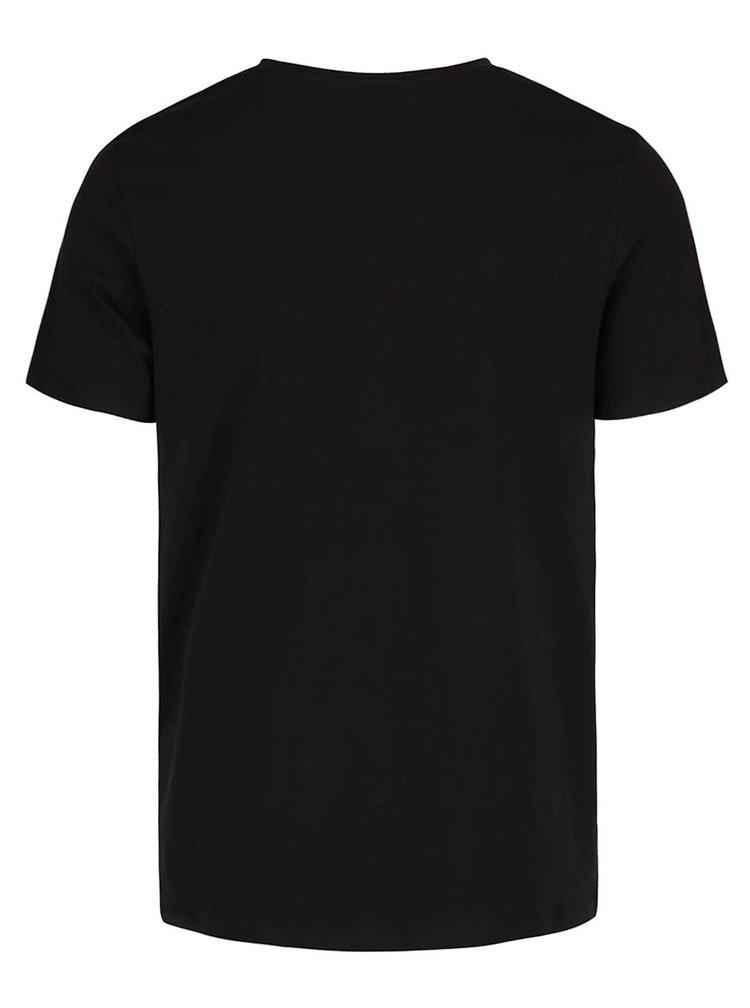 Tricou negru Jack & Jones Rraffa cu print