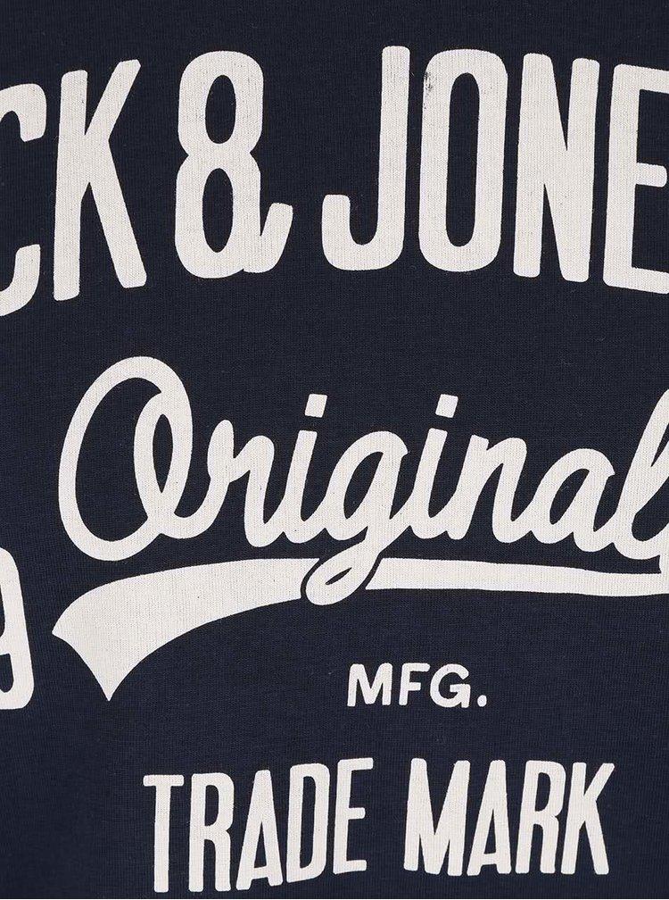 Tmavě modré tričko s potiskem Jack & Jones Rraffa