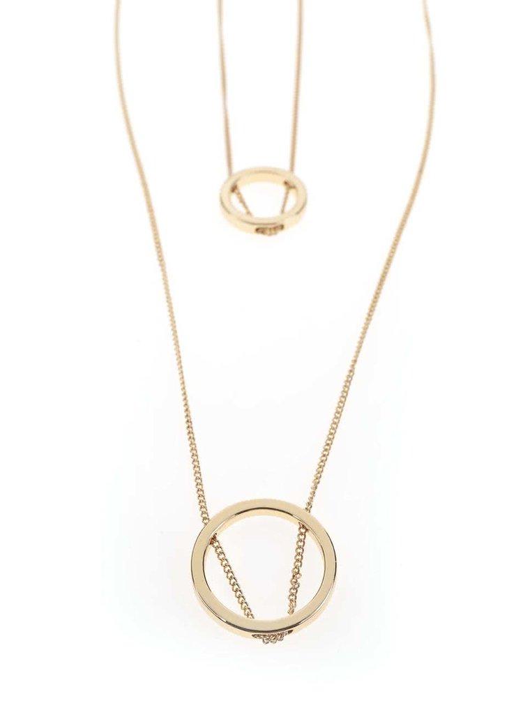 Dlhý kaskádovitý náhrdelník v zlatej farbe Pieces Polly
