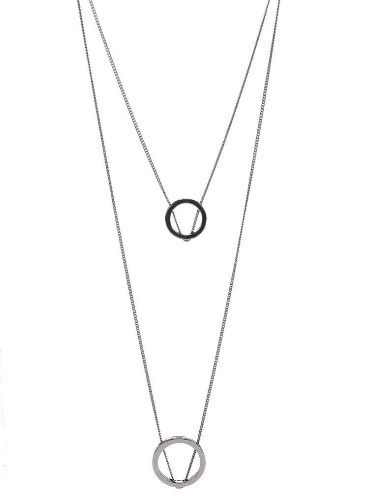 Šedý dlouhý kaskádovitý náhrdelník Pieces Polly