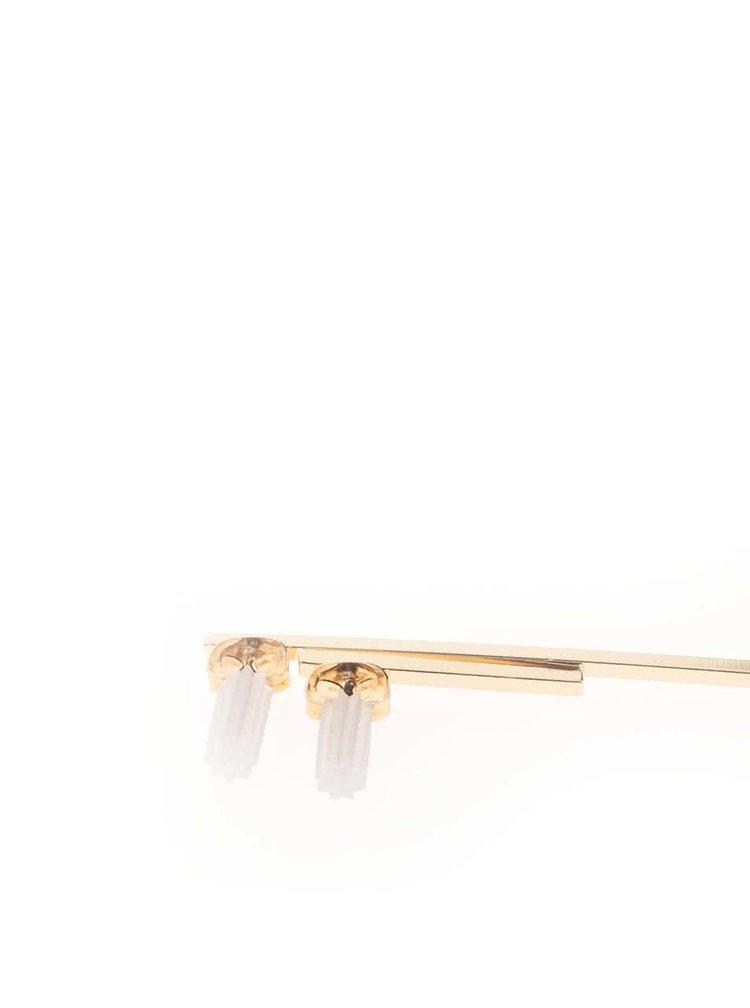 Asymetrické náušnice v zlatej farbe Pieces Perule