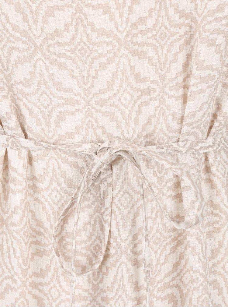 Krémové vzorované maxišaty VILA Steps