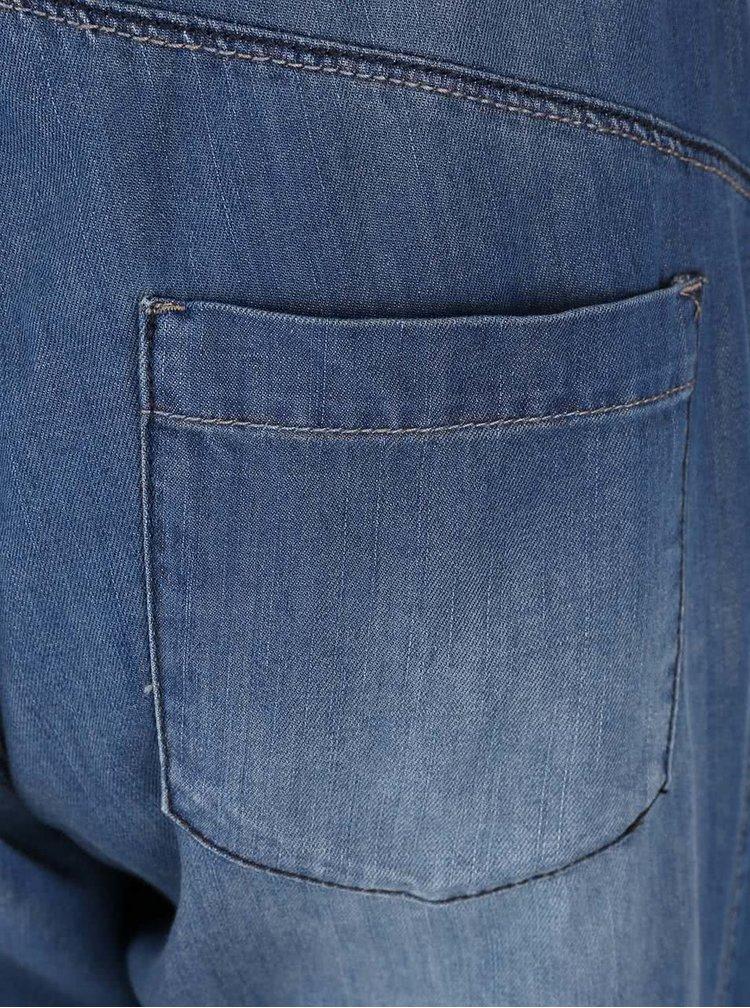 Modré rifľové tehotenské 3/4 nohavice Mama.licious Anja