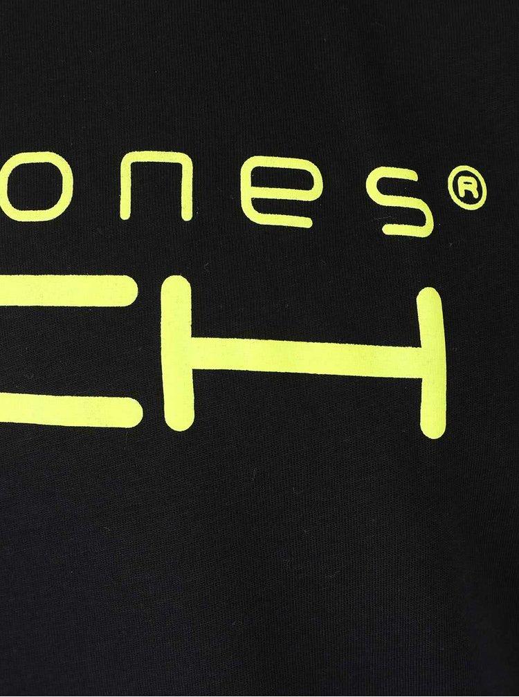 Čierne tričko s nápisom Jack & Jones Foam