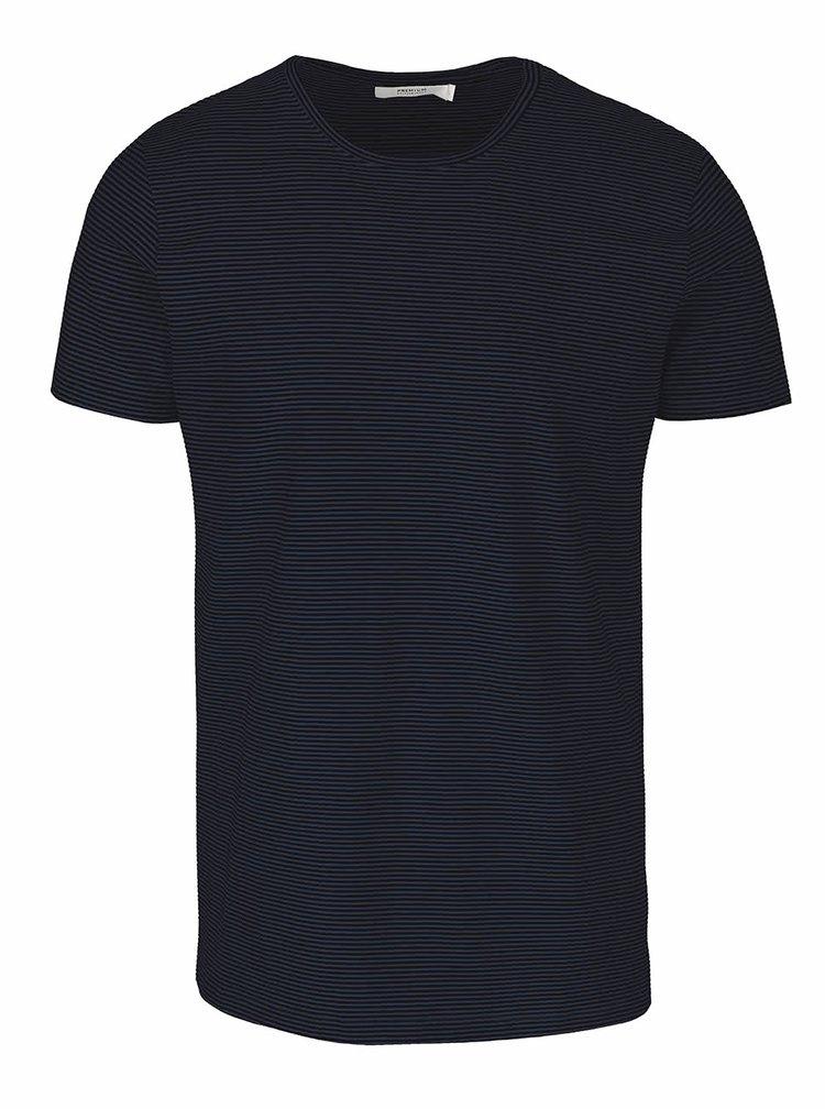 Černo-modré pruhované triko Jack & Jones Pima