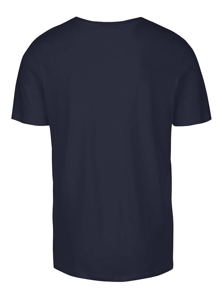 Tricou albastru Jack & Jones Roli cu print